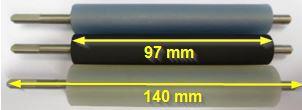 """Druckwalze für Bizerba GLMI / GLP80 (3"""") - Silicon platinvernetzt - bläulich"""