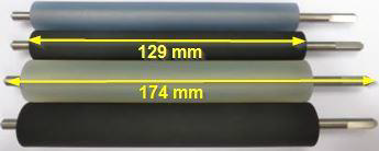 "Abziehwalze für Bizerba GLMI / GLP80  (3"") - Silicon transparent"