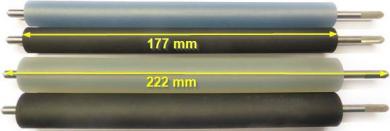 """Druckwalze für Bizerba GLPmaxx / GLM-I (6"""") - Silicon platinvernetzt - bläulich"""